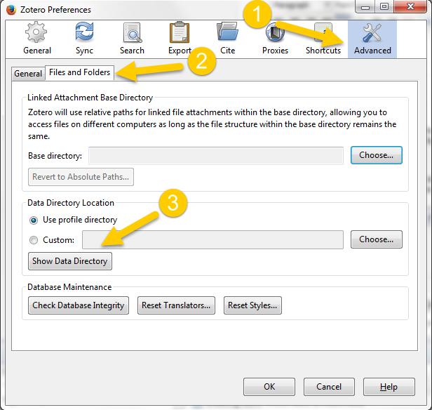 Files Zotero Directory