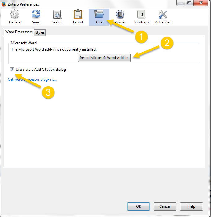Install Word plug-in
