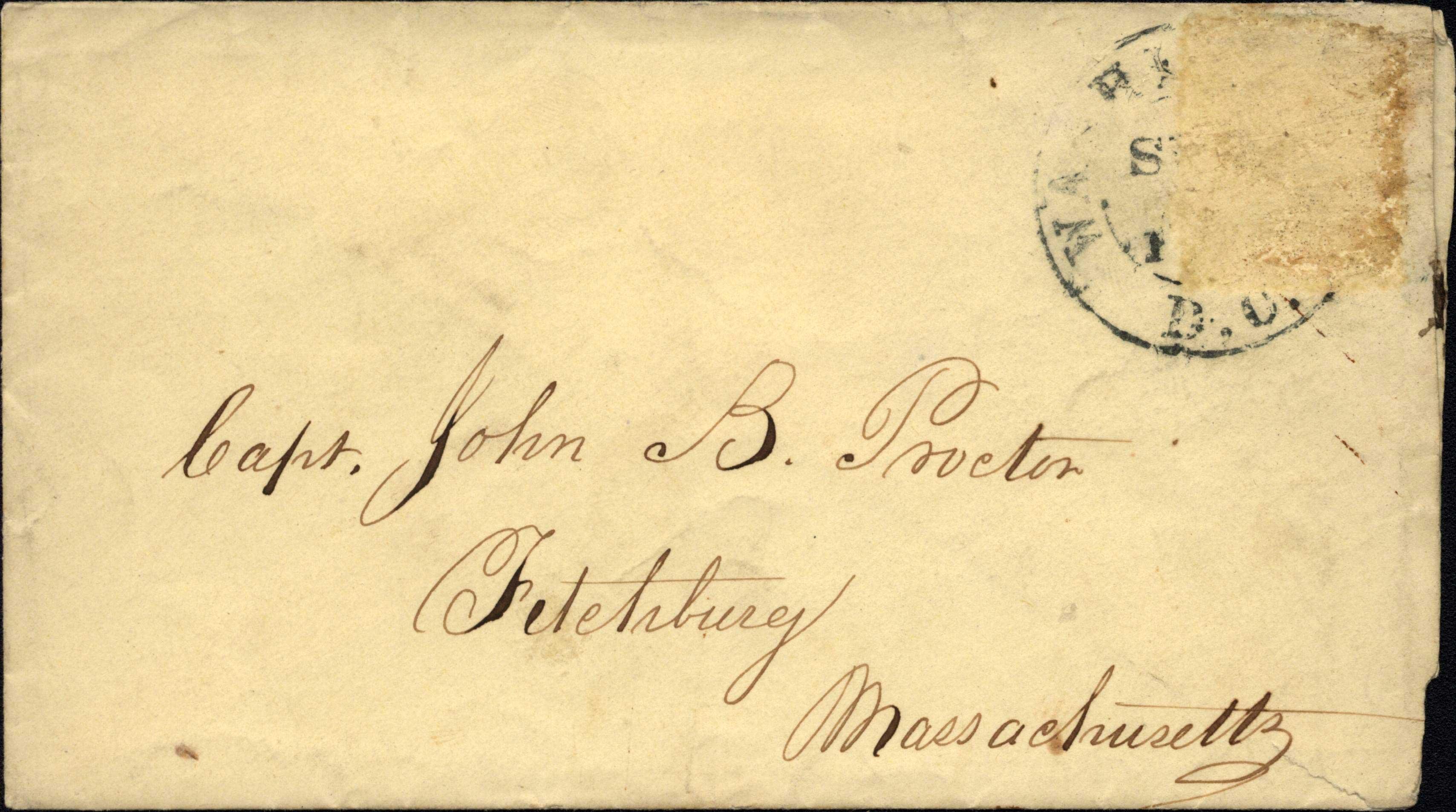 Envelope addressed to J.B.Proctor