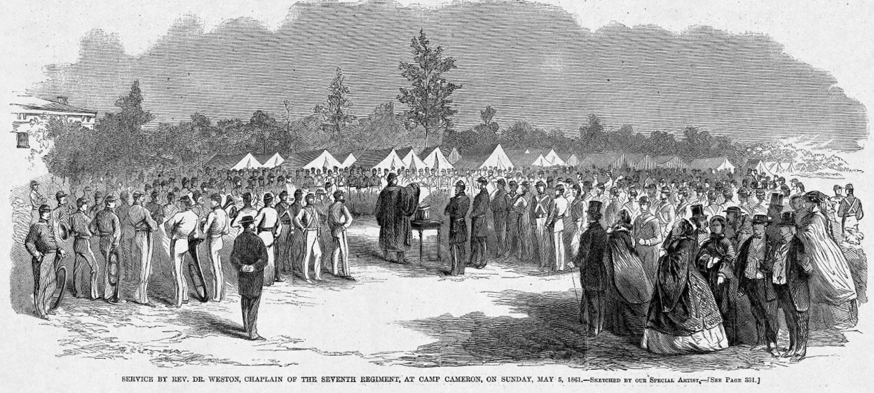 Service by Rev. Dr. Weston, Chaplain of the Seventh Regiment, at Camp Cameron, on Sunday, May 5, 1861