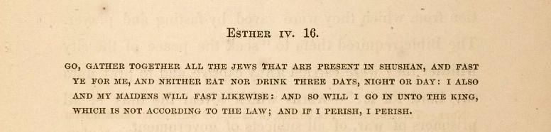 Sermon text, Esther 4, 16
