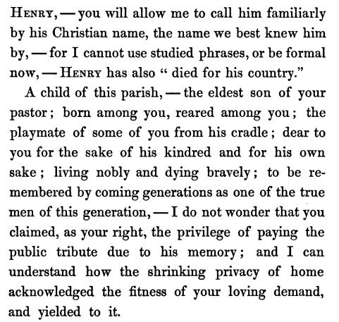 Opening paragraphs from Memorial of Henry Ware Hall