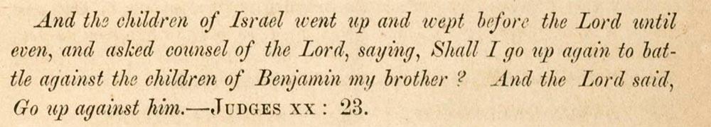 Sermon text, Judges 20, 23
