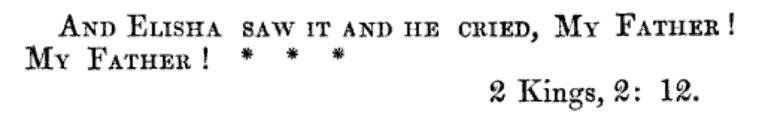 Sermon text, Second Kings, 2, 12