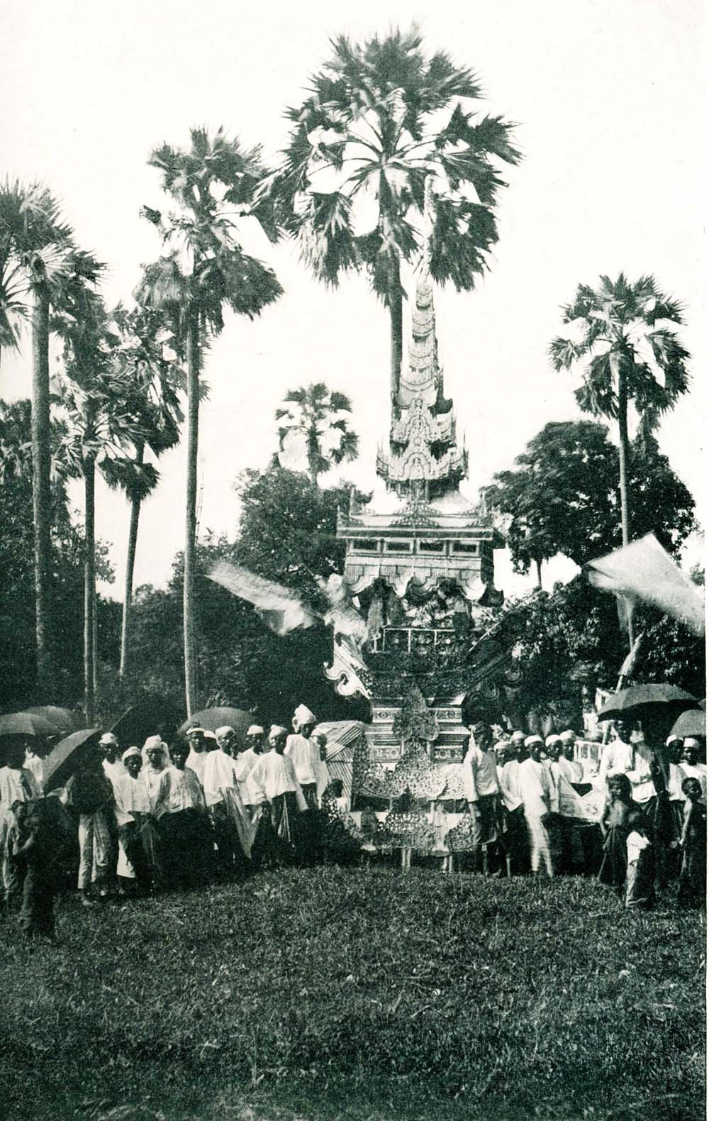 Cremation of a Buddhist Priest in Burma