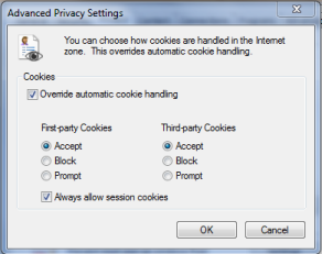 proxy cookie setting