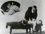 D.D. Palmer adjusting a patient
