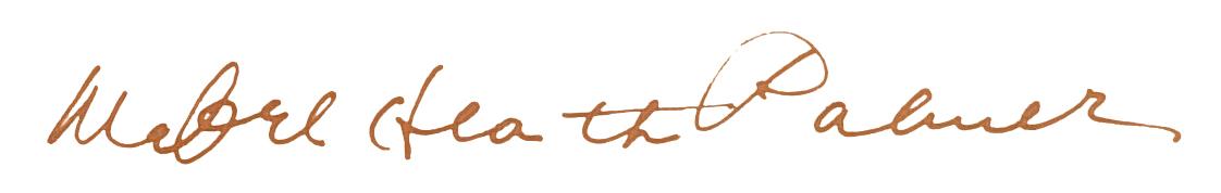 Mabel Palmer signature