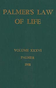 Palmer's Law of Life