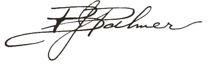 B.J. Palmer signature