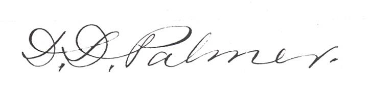 D.D. Palmer signature