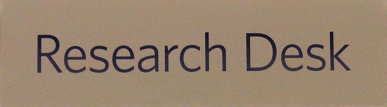 Research Desk sign