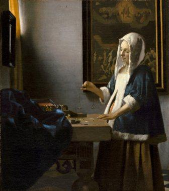 Vermeer, Woman Holding a Balance