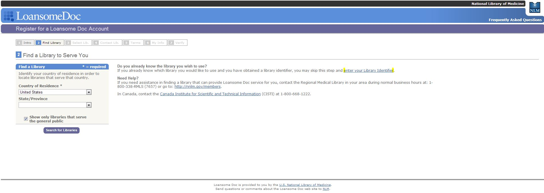Image of LoansomeDoc enter your library identifier page.
