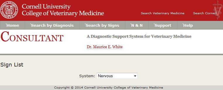 Select a system, nervous