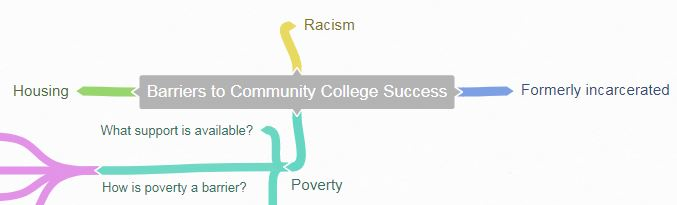 brainstorming subtopics:  racism, housing, what support is available, formerly incarcerated