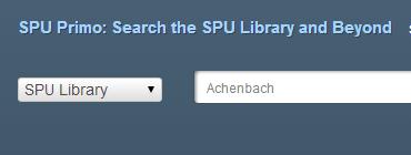 SPU Library Primo Search Box