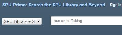 SPU Library Search Box
