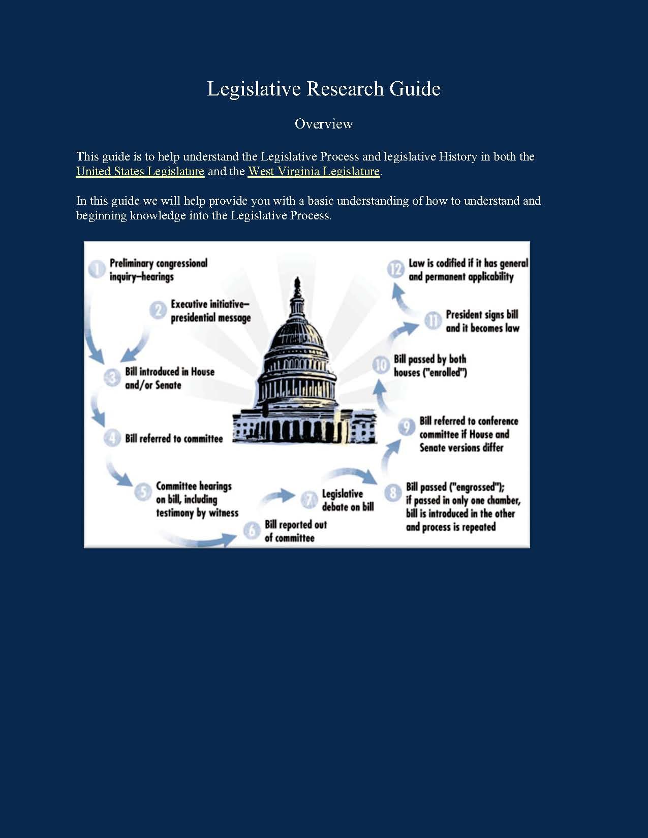 Legislative Research Guide