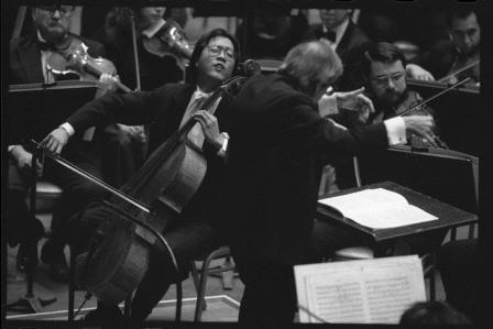 Yo Yo Ma & Andre Previn at the Hollywood Bowl