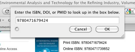 Screenshot of Zotero's pop-up window for adding items by identifier.