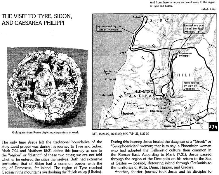 Map of Tyre, Sidon, and Caesarea Philippi