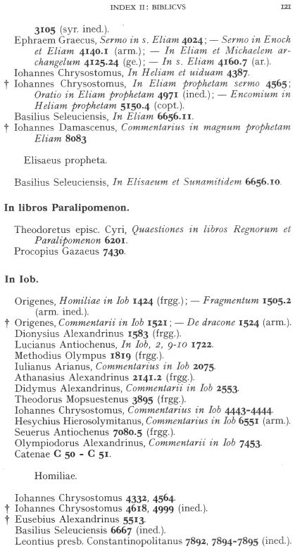 Clavis patrum Graecorum Index
