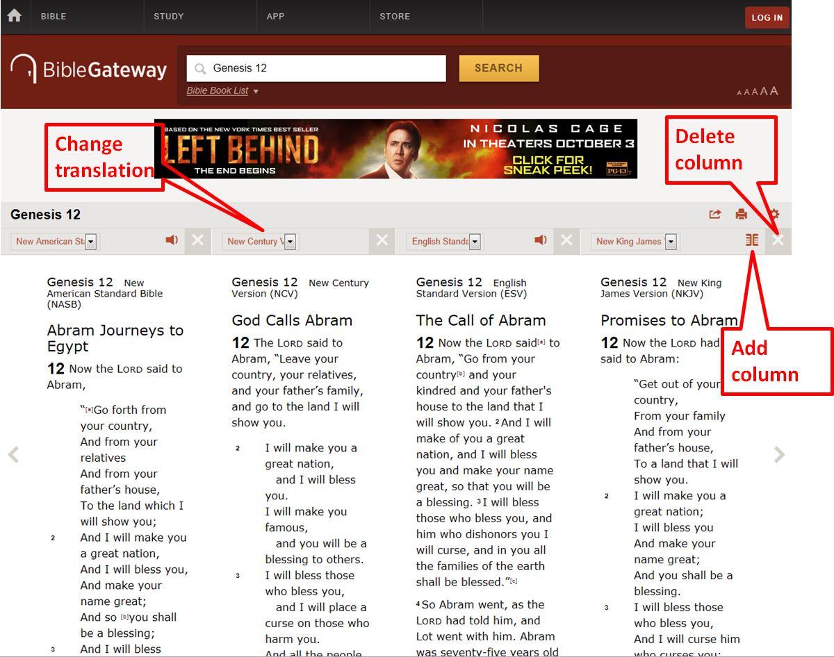 Bible Gateway Search Box