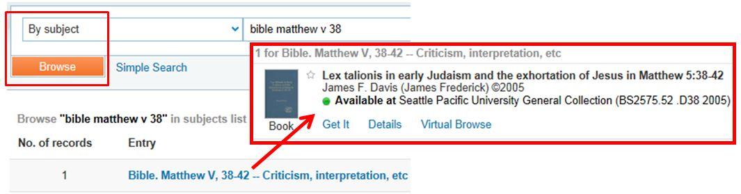 Virtual Browse