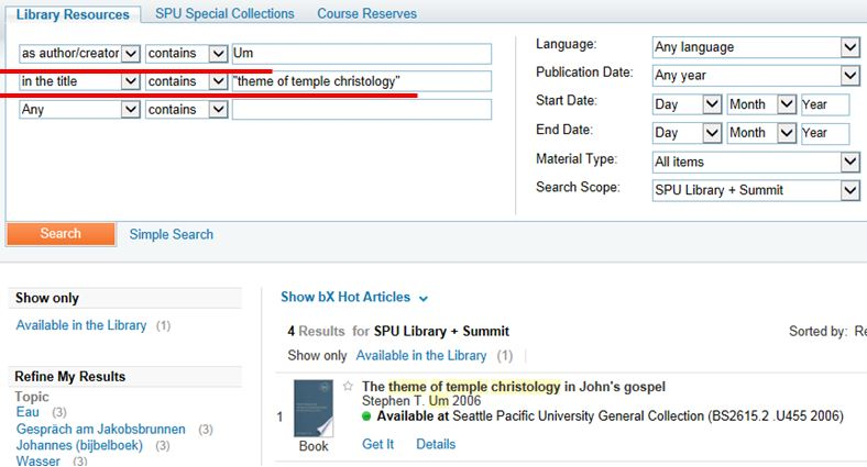 Author and Title Search