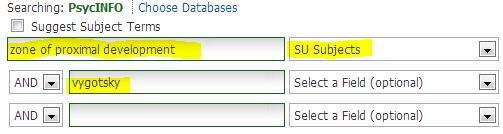 Subject Descriptors Search