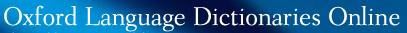 oxford language dictionaries online database link