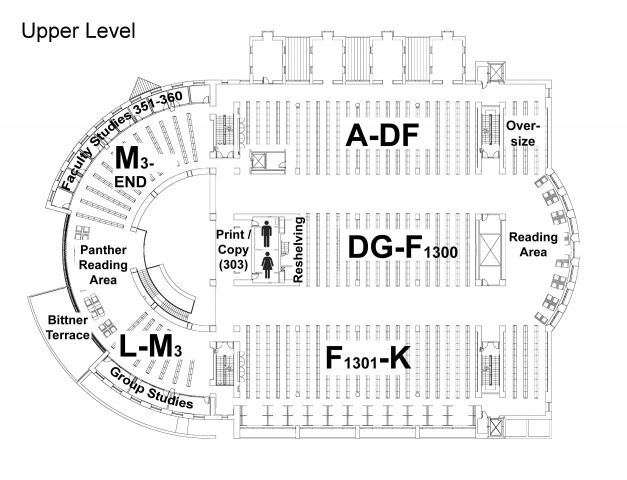 Davis Library Upper Level Map