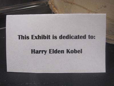 Harry Elden Kobel--Dedication