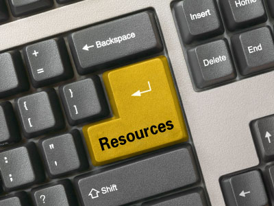 """Resources"" Keyboard Button"