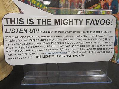 The Mighty Favog explains the role of the Muppets on Saturday Night Live's first season