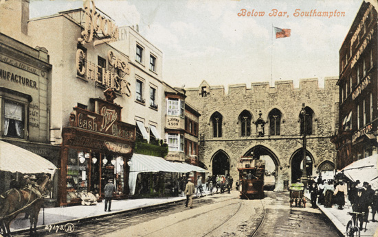 Postcard of Below Bar