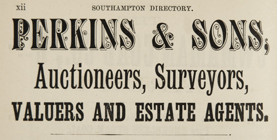 Perkins Auctioneers advert