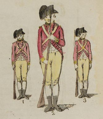 coloured engraving of soldiers