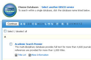 article database interface