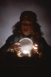 fortune teller with a crystal ball