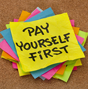 Post-It reading Pay Yourself First