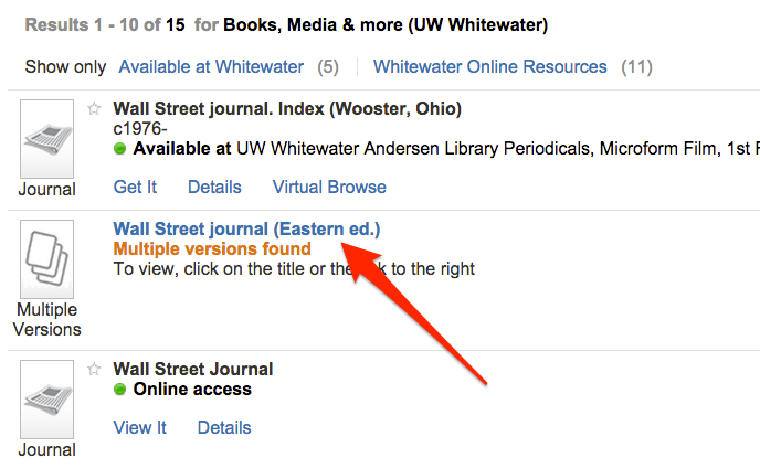 Search result for Wall Street Journal (Eastern Ed.)