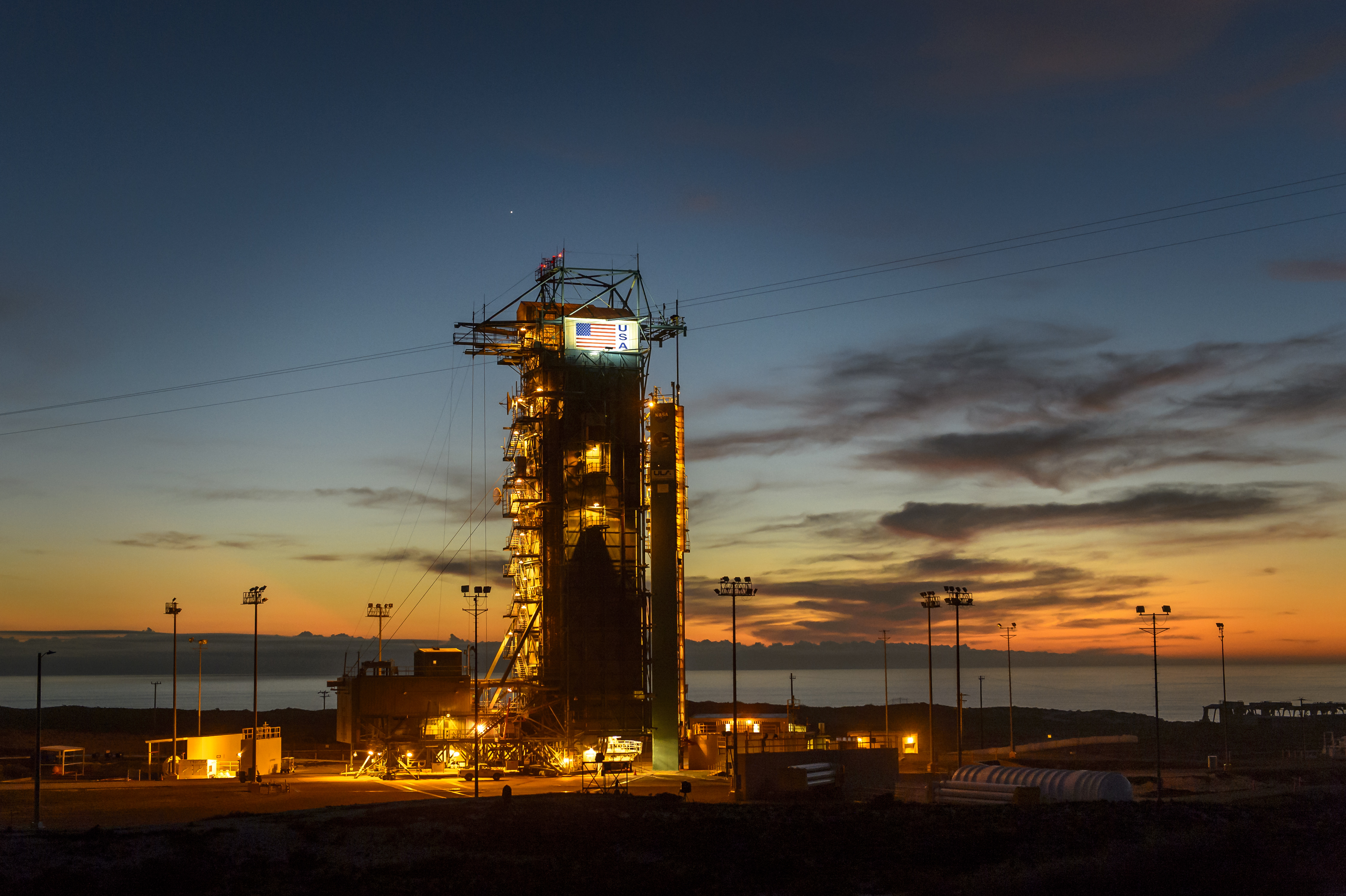 Ready for Launch at Sunset