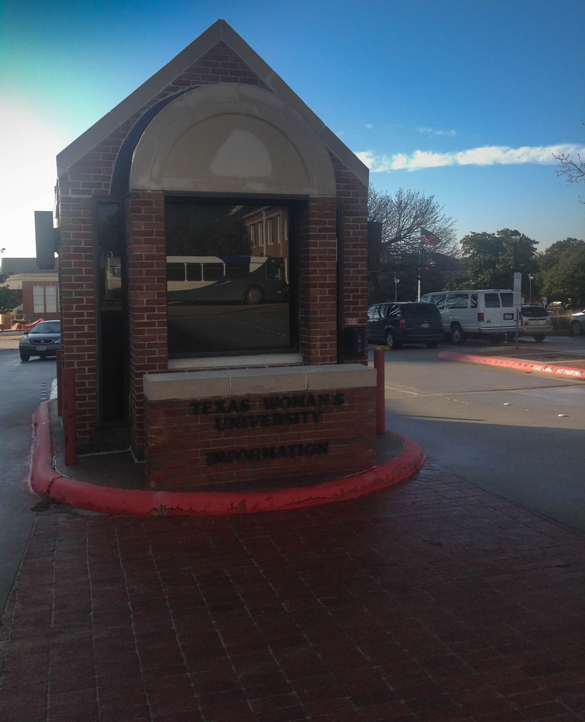 Information booth at TWU Denton campus