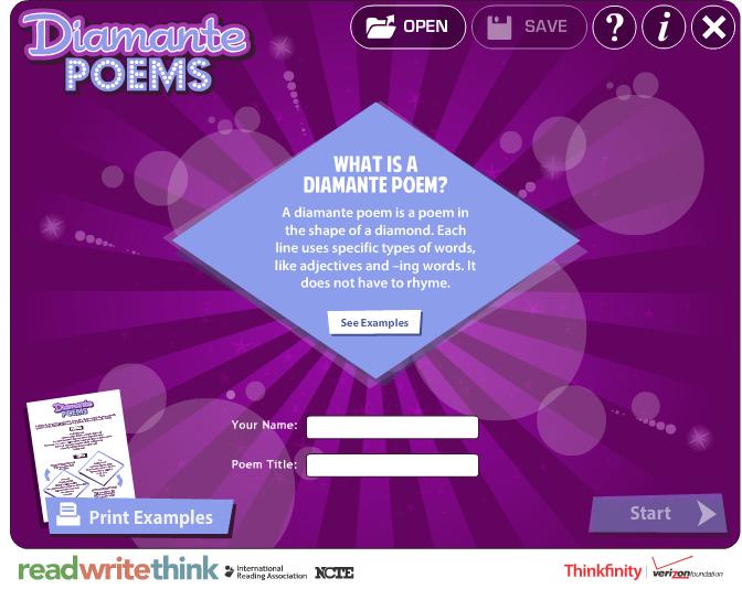 Diamonte Poem