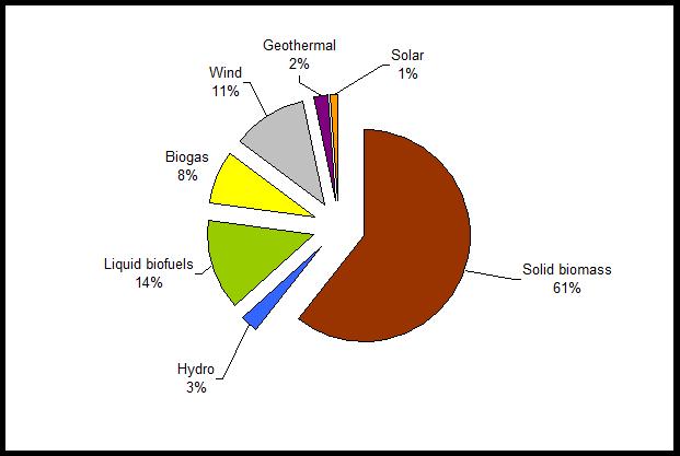 Pie Chart of Renewable Energy Resources