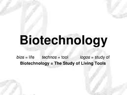 Image of text Explaining Meaning of Biotechnology