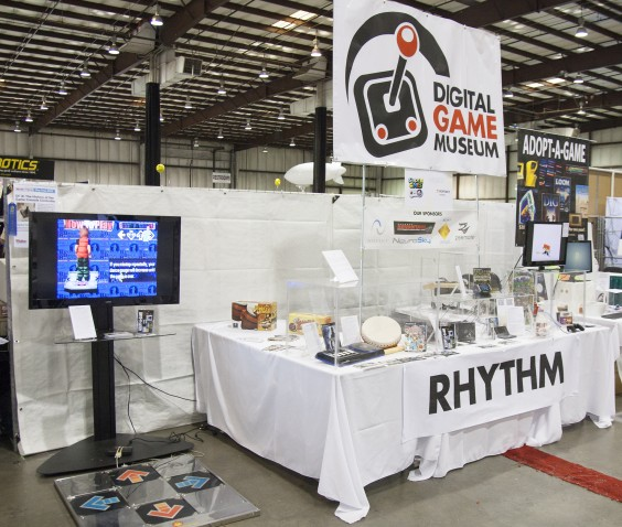 Image of Digital Game Museum Setup at a Convention Hall