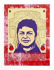 Image of street art featuring Gloria Anzaldua